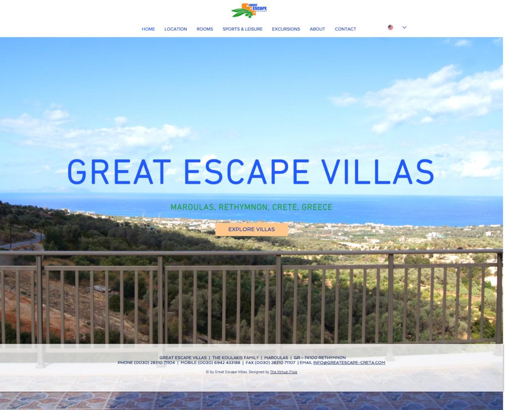 Great Escape Villas   The Virtual Pixie
